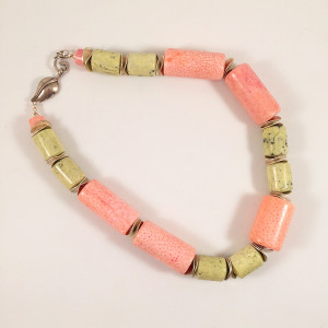 Pink Coral Light Green Turquoise
