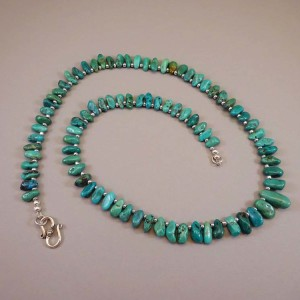 Turquoise-drops Silvered-Glass 25-in