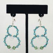 Earrings - Double Loop Auqa v.1