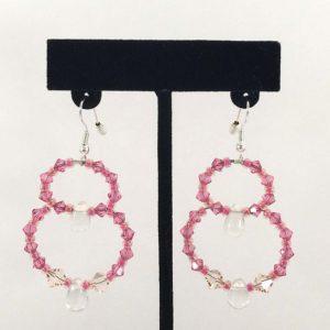 Earrings - Double Loop Pink v.1