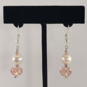 Earrings - Pearls and Pink Crystals v.1
