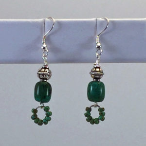 Earrings-Green-Turquoise-with-seed-bead-loops
