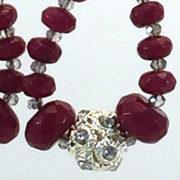 Earrings Tear-Drop Red 'Jasper' C1